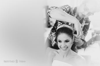 Noiva em making of de casamento